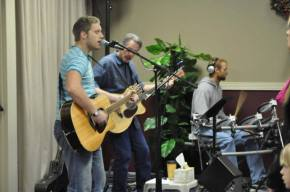Leading the music at the church I grew up in